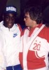 mit Schwergewichts-Weltmeister Frank Bruno in Las Vegas