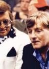 mit Schauspieler Manfred Zapatka beim Filmdreh