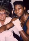 mit Olympiasieger und Weltmeister Tyrell Biggs